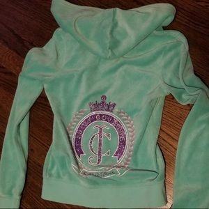 Bogo EVERYTH Mint green Juicy Couture zip  hoodie